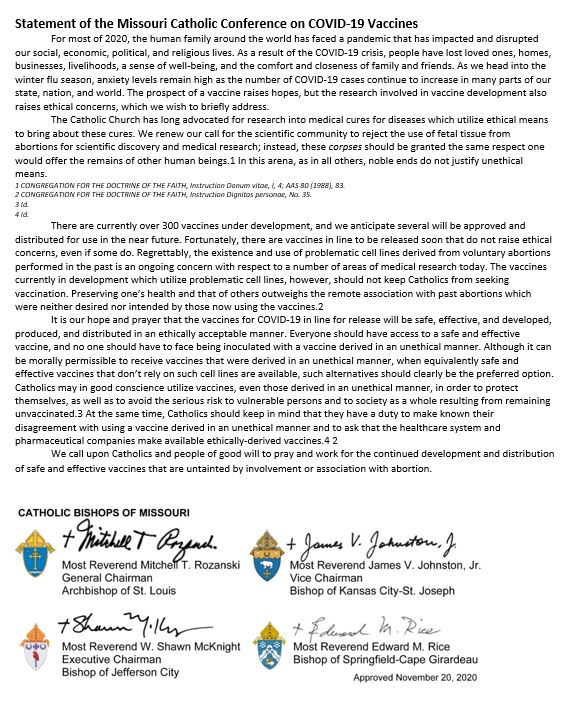 Statement Of The MOCC On COVID Vaccines ENGLISH